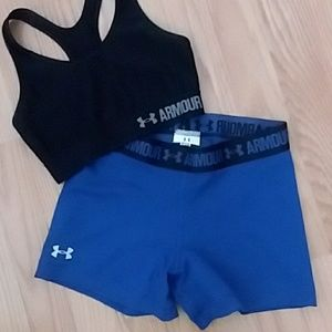 Under Armour Blue Compression Shorts